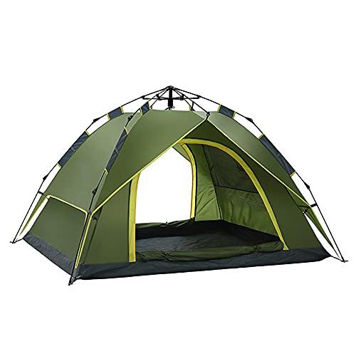 YBWBDB Tiendas emergentes para Acampar, Tiendas de campaña automática Impermeable a Prueba de Viento Tienda de campaña Anti-UV a Prueba de Viento para Camping Festivales de Senderismo,Verde
