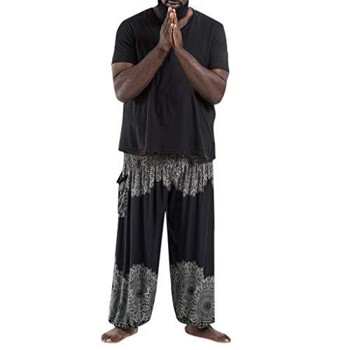 Huihong Pantalones de Yoga Deportivos Holgados Sueltos de Hombres Pantalones Bombachos Casuales de Tallas Grandes, Pantalones Deportivos Casuales de Moda 2019