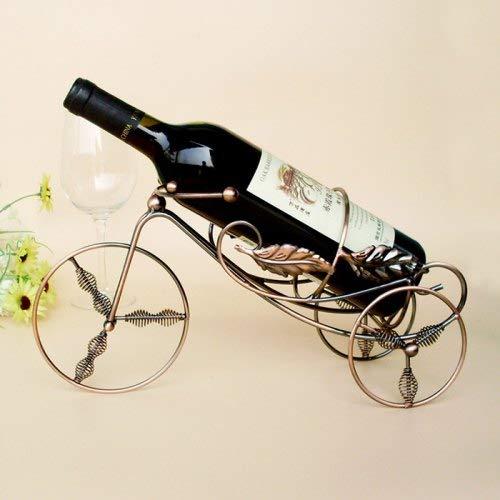WZhen Rack De Vino De Triciclo De Primavera De Hierro - Cobre Tinto Antiguo