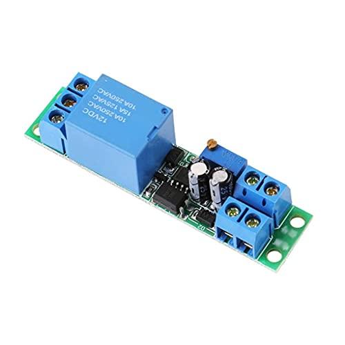ZZHJYD Tablero de retransmisión DC12V DC12V Disparador de señal de Apagado Desactivar el Interruptor del Temporizador Módulo de relé Módulo de retransmisión Fuentes de alimentación Ajustables