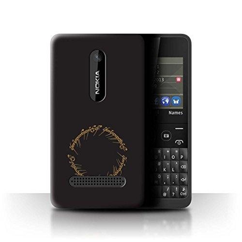 Hülle Für Nokia Asha 210 LOTR Fantasie Inspiriert Der Eine Ring Design Transparent Ultra Dünn Klar Hart Schutz Handyhülle Case
