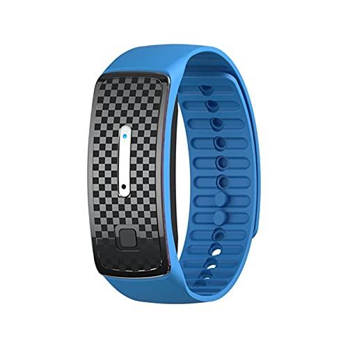 DUNLIN Pulsera De Repelente De Mosquitos Electrónicos USB Recargable Recargable Reloj De Anti-Mosquito Ultrasónico Portátil para Viajar (Color : Blue)