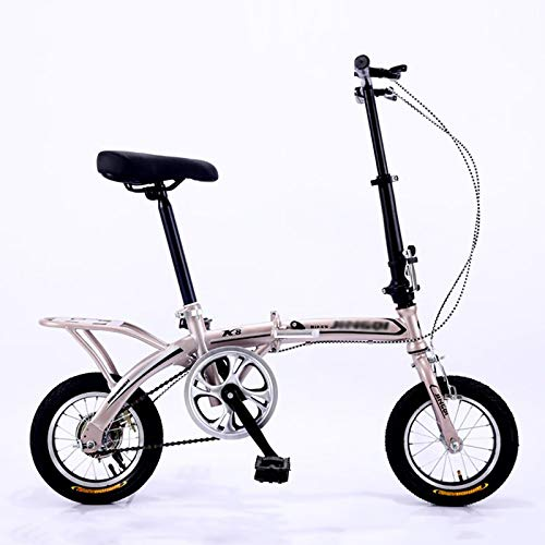 ZDXC Bicicletta Pieghevole Bicicletta da 12 Pollici per Studenti Bici Uomo Compatta per Adulti Mini Bici Pieghevole Leggera per Lavorare Bicicletta da Scuola