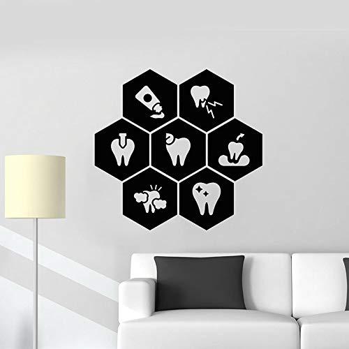 Tianpengyuanshuai Zahn zahnarzt klinik Pflege Gesundheit zahnpasta Vinyl wandtattoo Dekoration Wohnzimmer Geschenk 77x81 cm
