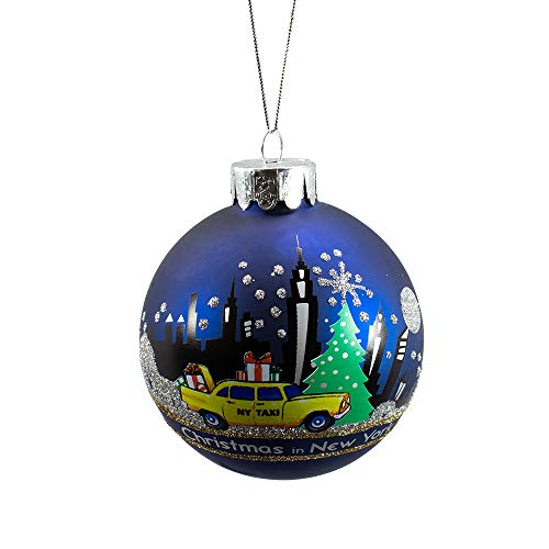 Kurt Adler New York Glass Ball Ornament, 80mm
