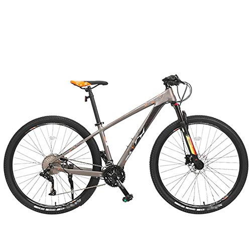Adulti 33 velocità velocità variabile Mountain Bike, MTB Alluminio Lega Strada Bicicletta Uomo 26/29 Pollici Ruota Sport Giro in Bicicletta 29inch(175-195cm) GrayOrange