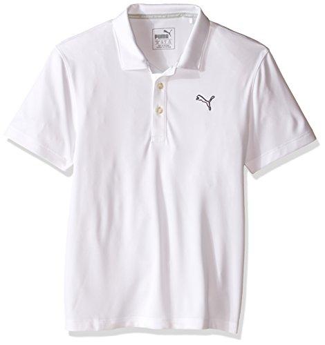 PUMA Essential Pounce Poloshirt für Jungen (große Kinder), Jungen, Bright White, X-Small