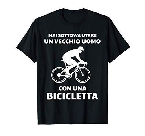 Uomo Ciclismo Divertente Ciclista Bicicletta Regalo Compleanno Maglietta