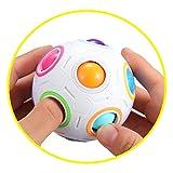 Magic Rainbow Puzzle Ball, Speed Cube Ball Puzzle Game Fun Stress Reliever Magic Ball Brain Teaser Fidget Toys for Children Teens