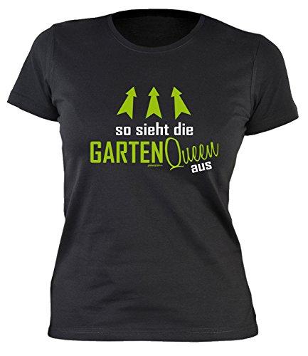 Garten Gartenkleidung Print Damen T-Shirt Hobbygärtner Gartenfreunde So Sieht die Garten Queen aus Gartler Gartenarbeit Sprüche Geschenke Bedruckt Gr. M :