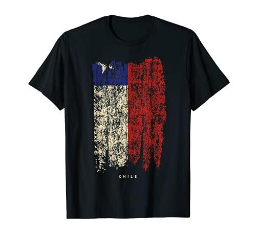 Bandera de Chile Vintage origen chileno Camiseta