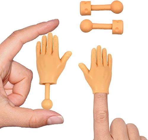 Daily Portable Tiny Hands (High Five Mini Pack) Left & Right Hand with Holding Sticks Included