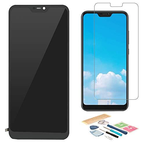 Pieza de Montaje de Reemplazo de Pantalla Digitalizador Táctil de Pantalla LCD para Xiaomi Mi A2 Lite, con Herramientas, Protector de Pantalla