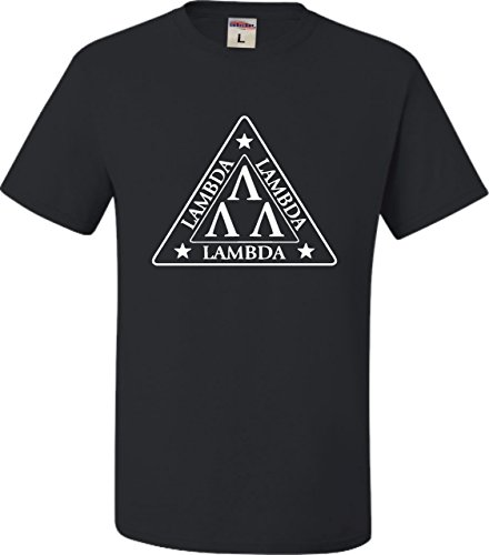 X-Large Black Adult Lambda Lambda Lambda Tri Lambda Funny T-Shirt