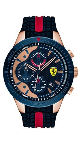 Scuderia Ferrari Orologio Cronografo Quarzo Uomo con Cinturino in Silicone 830591