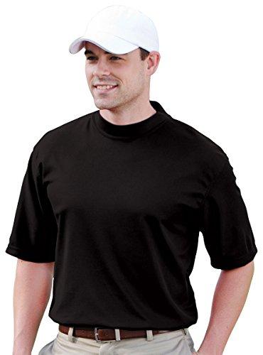 Jonathan Corey Short Sleeve Performance Mock, Black, L