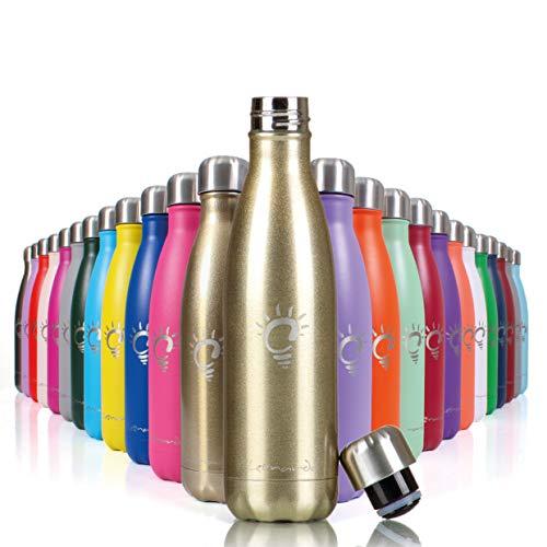 Leonardo 123S Bottiglia Termica in Acciaio Inox 500ml, Bottiglia per Acqua in Metallo Senza Bpa, certificata CE e FDA per Alimenti, Borraccia Sportiva per Bambino, Scuola, Palestra, Sport