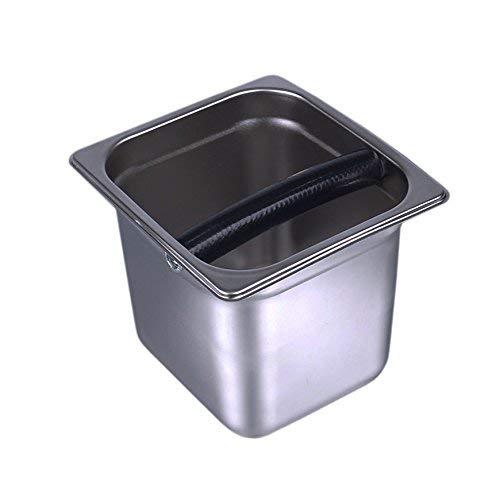 XLKJ beczki w proszku do kawy ze stali nierdzewnej automatyczne ekspres do kawy pudełko żużlowe, odporne na korozję, łatwe do czyszczenia zastosowanie w kawiarniach, restauracjach zachodnich, herbaciarniach, barach