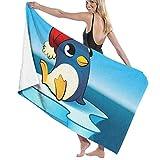AEMAPE Iceberg Clipart Cute Penguin Toallas de baño Toallas de Piscina Grandes, Suaves y de Secado rápido, Ideales para baño, Deportes, Viajes, Fitness, Yoga