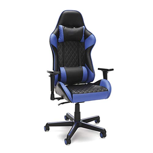 Lenakrui 100 Racing Style Gaming Chair, in Blue