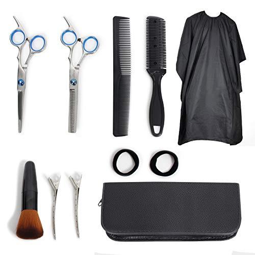Signstek Haarschere, Scheren-Sets, Premium Scharfe Friseurscheren, Friseurscheren aus Edelstahl zum Ausdünnen und Strukturieren, Modellieren Professionelle Friseur-Set