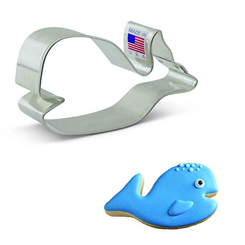 Ann Clark Cookie Cutters Cute Whale Cookie Cutter, 4'