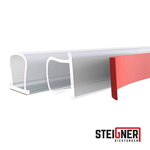 STEIGNER Fensterdichtung Türdichtung Gummidichtung aus Silikon, 5m, Omega- Profil, SFD01