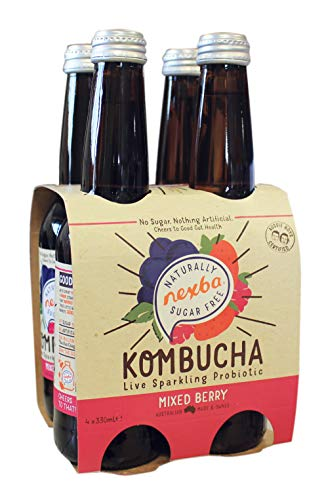 Nexba Mixed Berry Kombucha 330 ml Bottle 4-Pack - case of 6 ,716008