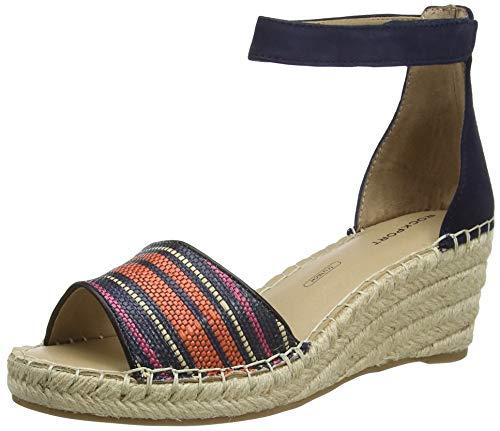 Rockport Marah 2 Piece Ankle Sandal, Plateforme Femme, Bleu Marine 002, 41