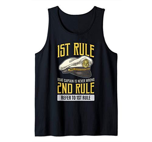 El capitn del barco nunca es malas reglas divertidas Camiseta sin Mangas