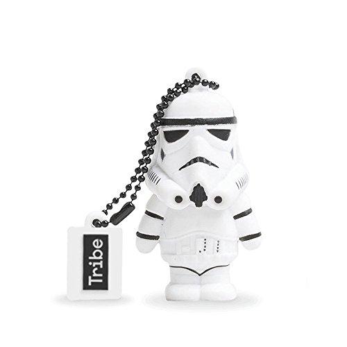 Tribe Disney Star Wars Stormtrooper USB Stick 8GB Speicherstick 2.0 High Speed Pendrive Memory Stick Flash Drive, Lustige Geschenke 3D Figur, USB Gadget aus Hart-PVC mit Schlüsselanhänger – Weiss