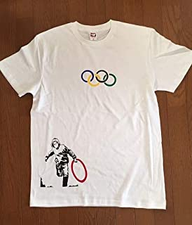 BANKSY TEE Thug Steal Olympic Ring (White)