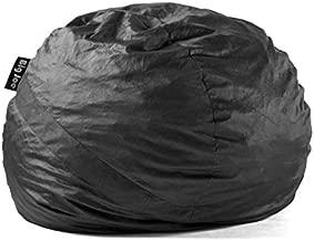 Big Joe Fuf Foam Filled Bean Bag Chair, Large, Black