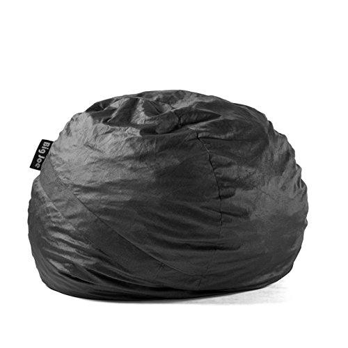 Big Joe Lenox Large Fuf Foam-Filled Bean Bag Chair, Removable Cover, Black