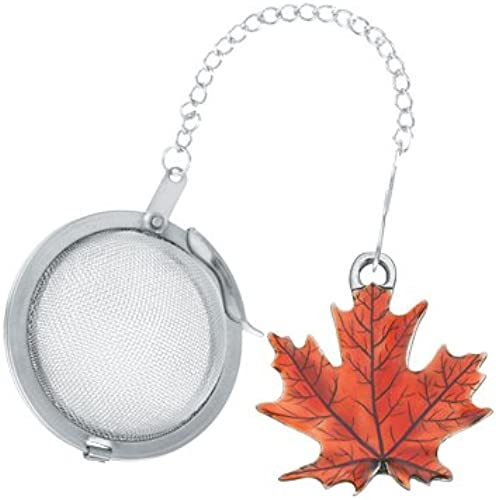 DANFORTH – Maple Leaf/Autumn Tea Infuser – Handcrafted – Made in USA – Gift Boxed