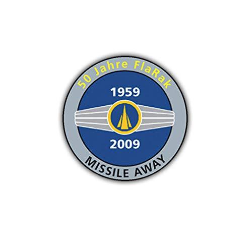 Stickers/Sticker 50 jaar FlaRak BW vluchtafweer raketten vlieger 7x7cm A1858