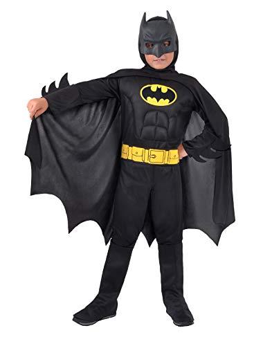 Ciao- Batman Dark Knight Costume Bambino Originale DC Comics (Taglia 3-4 Anni) con Muscoli pettorali Imbottiti, Colore, 11671.3-4