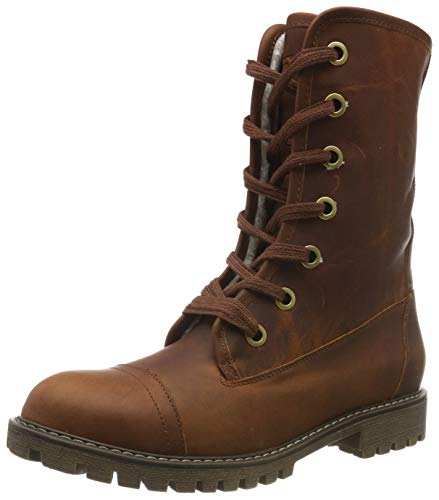 Roxy Vance - Lace-Up Leather Boots for Women - Frauen