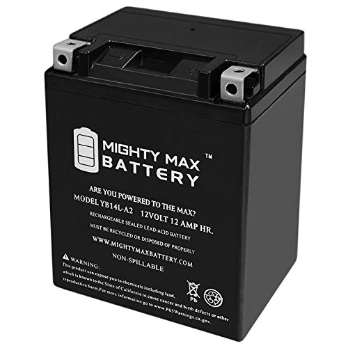 Mighty Max Battery YB14L-A2 12V 12Ah Battery for Yamaha 480 PZ480E Phazer II LE '1990-98 Brand Product
