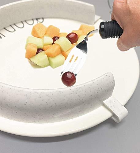 Food Guard für Teller, Clip-On Spill Prevention Esshilfeassistent für das Schöpfen von Lebensmitteln, Dining Assistive Plate Guard für Parkinson Behinderte, ältere Menschen, Behinderte