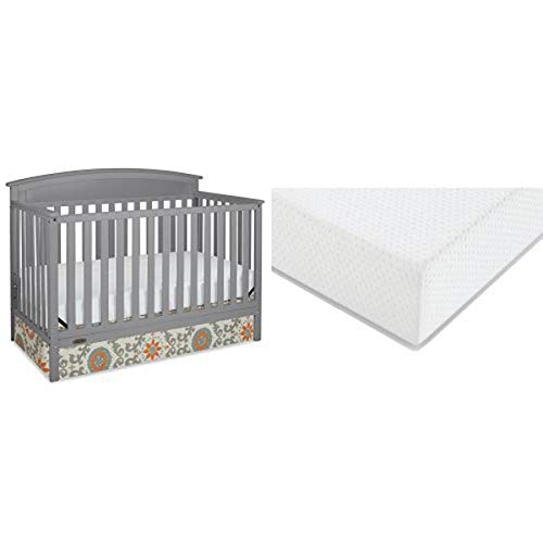 Affordable Graco Benton Convertible Crib + Graco Premium Foam Crib and Toddler Bed Mattress, Pebble ...