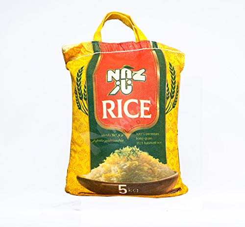 5 Kg Naz Basmati Reis, Langkorn Reis Basmati Rice, Basmatireis