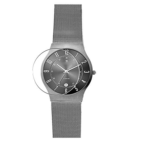 Puccy 3 Pack Tempered Glass Screen Protector Film, compatible with Skagen Grenen 233XLTTM WATCH CASE...