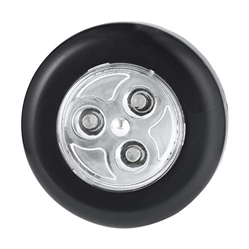 N / E Casa No requiere cableado Real Touch Control Noche Lámpara 3 LED Inalámbrico Stick Tap Armario Lámpara Táctil Funciona con Batería