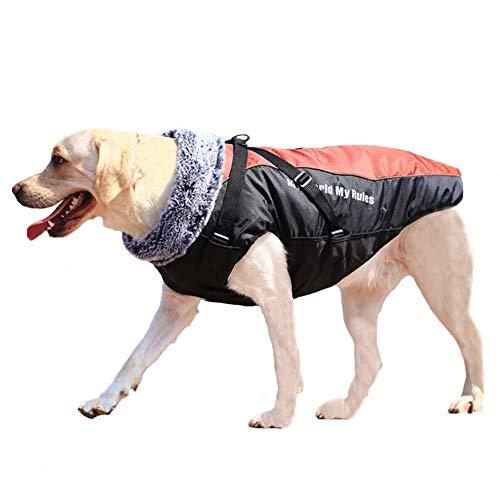 FEimaX Abrigo para Perro de Invierno Impermeable Chaqueta de Felpa Cálido Reflectante Chaleco de Algodón Suave para Cachorro Ropa para Mascotas Perros Pequeños, Medianos y Grandes