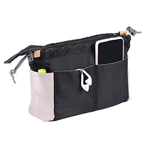 Organizer da Borsa Donna Interno Borsa Organizzatore per Borsetta, Multiuso Impermeabile Nylon Viaggio Sacchetto Cosmetico per Bag in Bag Organizer