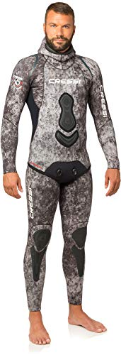 Cressi Apnea Men Complete Wetsuit 7mm Traje Profesional de Apnea y Pesca, Hombre, Camuflaje, L/4