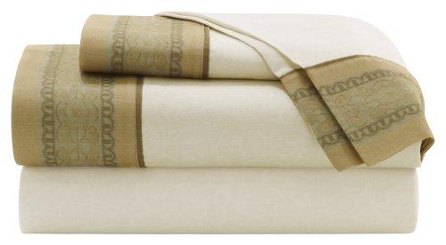 Croscill Home Fashion Garden Mist 4-Piece King Size Sheet Set, Sage