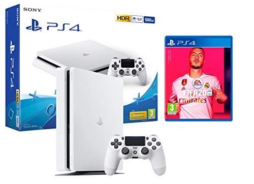 PS4 Slim blanche 500Go Console Playstation 4 + FIFA 20