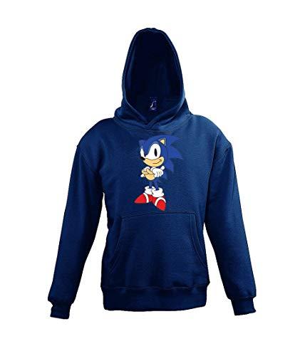 """Youth Designz Kinder Hoodie Kapuzenpullover Modell Sonic 2\"""", Gr. 106/116 (6 Jahre), Navyblau"""